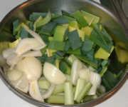 Fisch mit frischem Gemüse - Das Gemüse