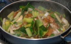 Fisch mit frischem Gemüse - Fertig!